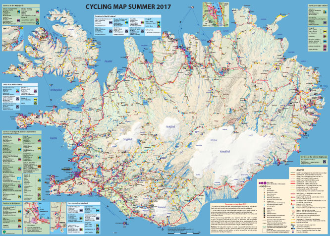 cyclinga iceland map 2017